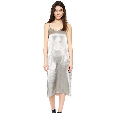Melillo Deep V Slip Dress