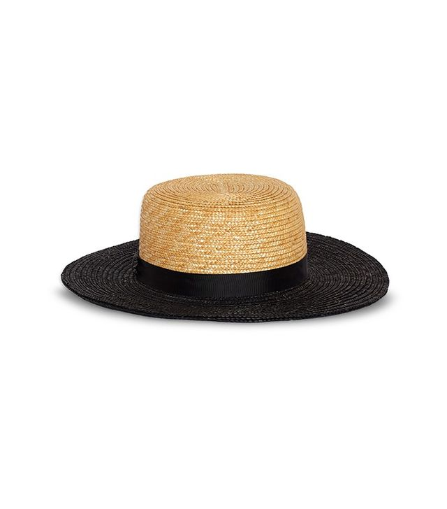 Who What Wear Straw Boater Hat