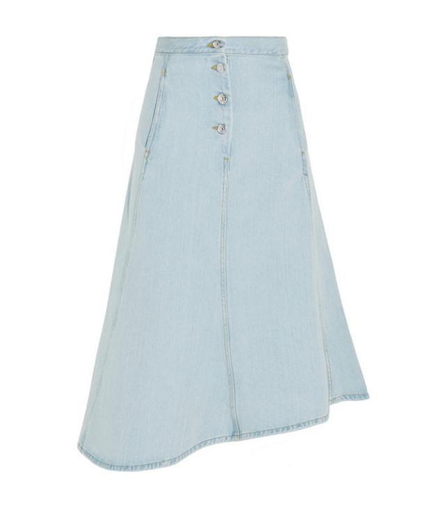 Acne Studios Kady Asymmetric Denim Midi Skirt