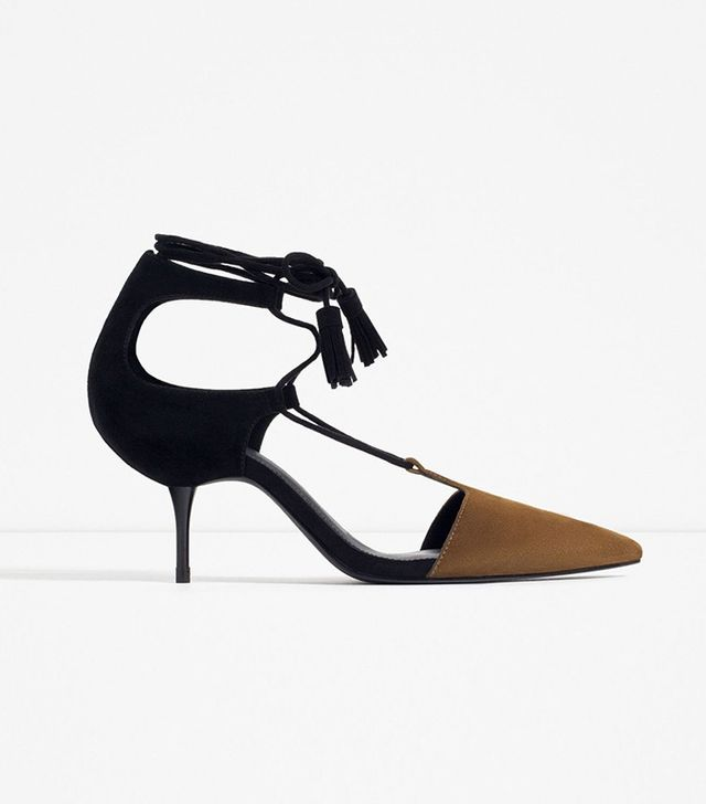 Zara Mid-Heel Lace-Up Shoes