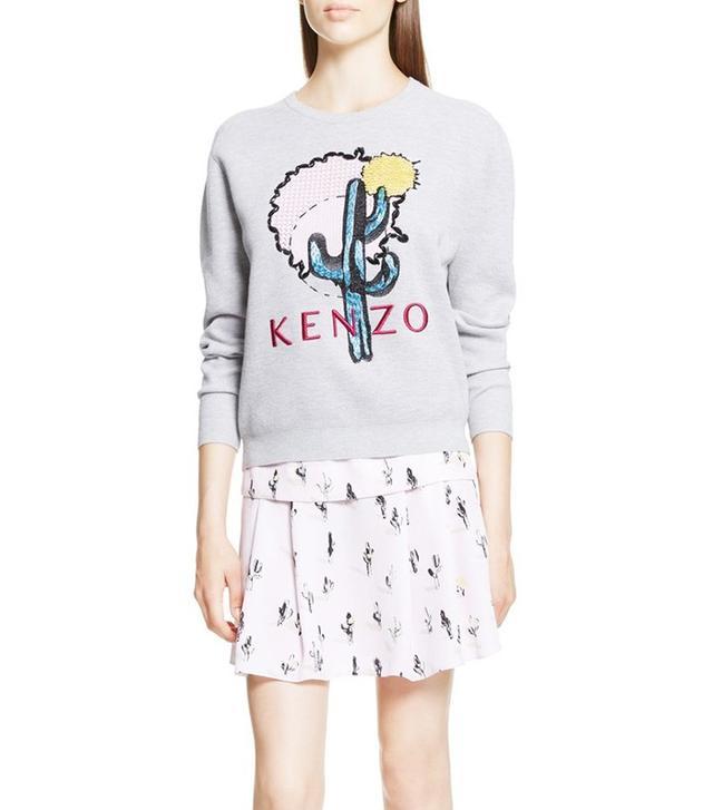 Kenzo Embellished Cotton Piqué Sweatshirt