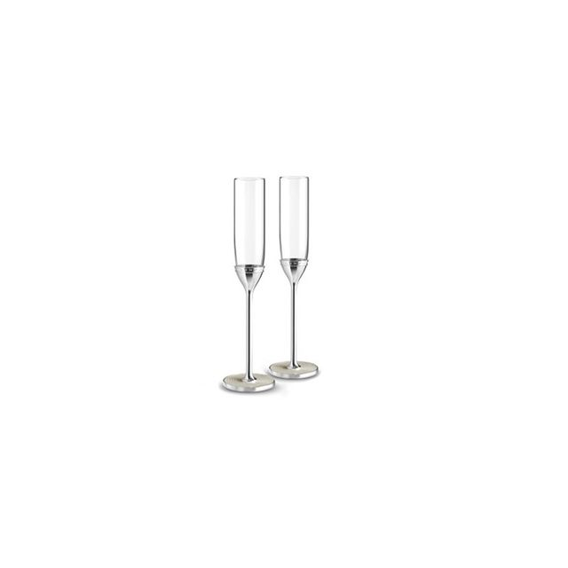 Wedgwood Vera Wang Wedgwood With Love Nouveau Pearl Toast Flute Pair