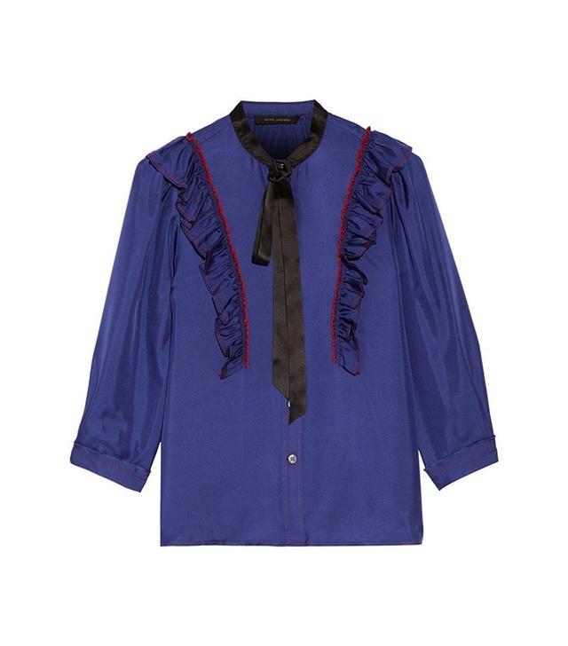 Marc Jacobs Ruffled Silk Crepe de Chine Blouse