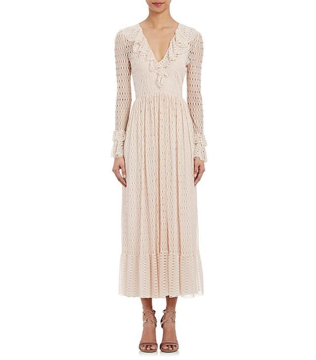 Philosophy di Lorenzo Serafini Circular-Lace Peasant Dress