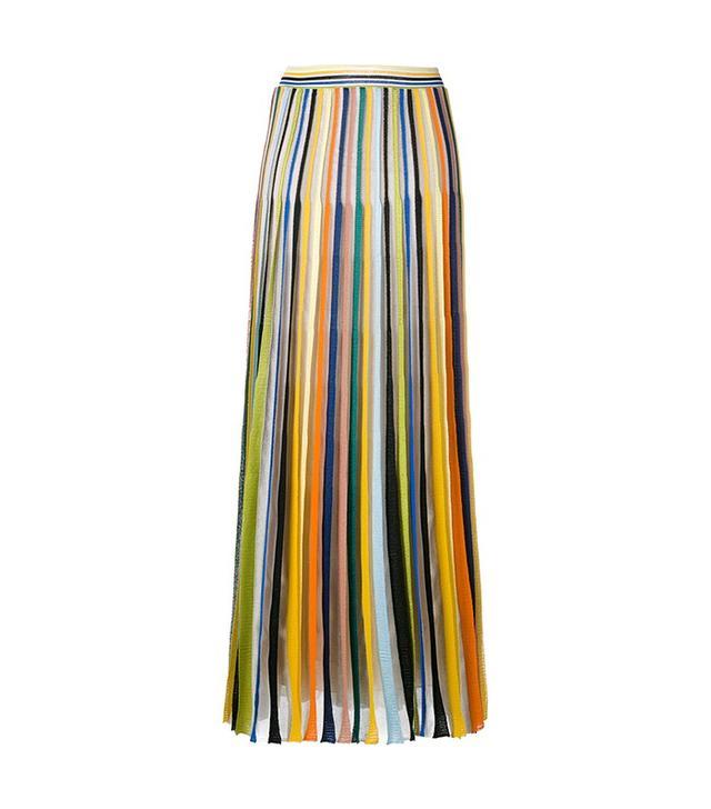 Missoni Pleated Striped Maxi Skirt