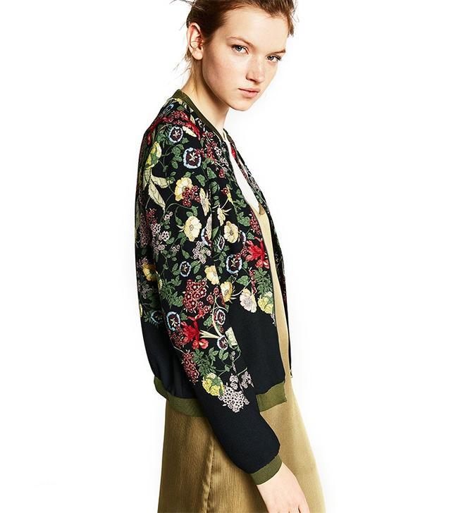 Zara Floral Printed Bomber