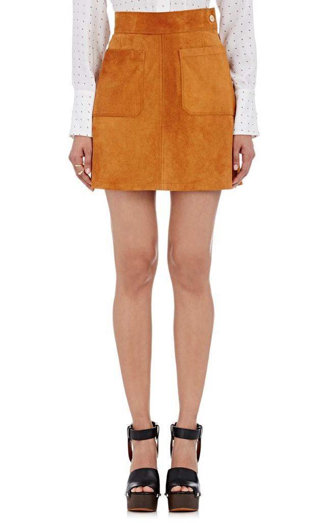 Frame Suede A-Line Skirt