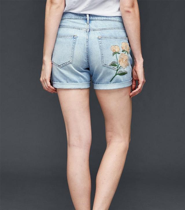 Gap Original 1969 Embroidered Best Girlfriend Shorts