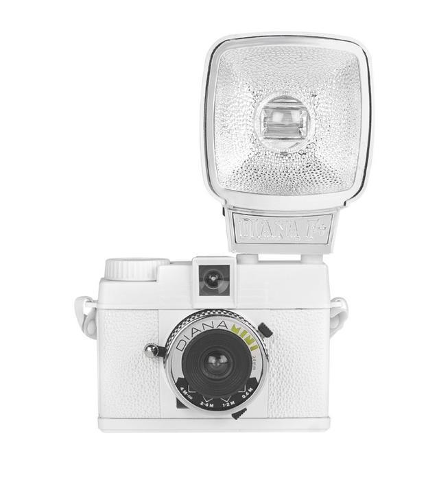 Lomography Diana Mini and Flash White Camera