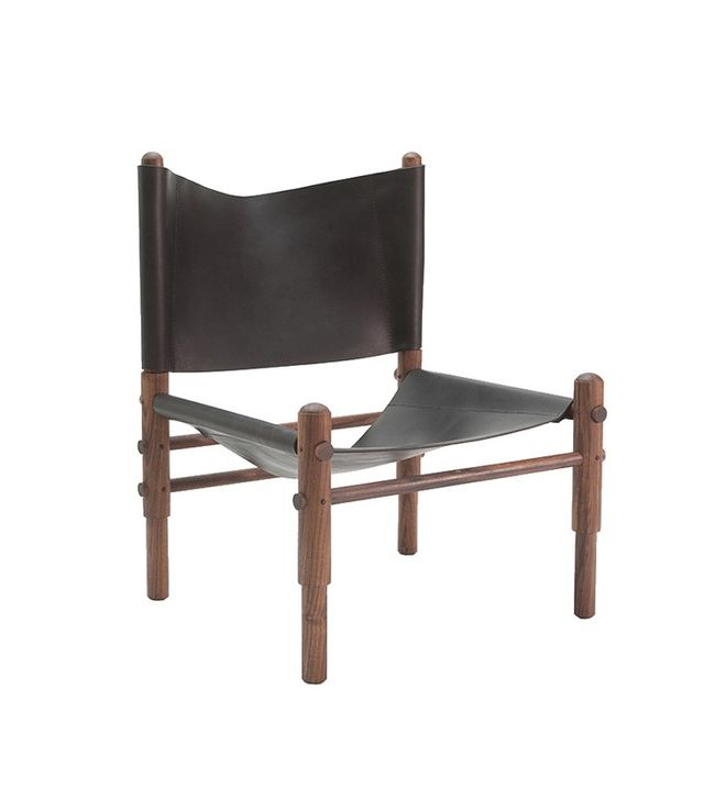 TRNK Walnut & Leather Sling Chair