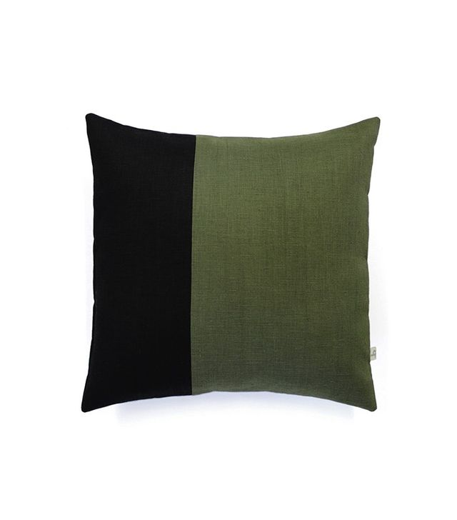 TRNK Linen Cypress Color Blocked Pillow