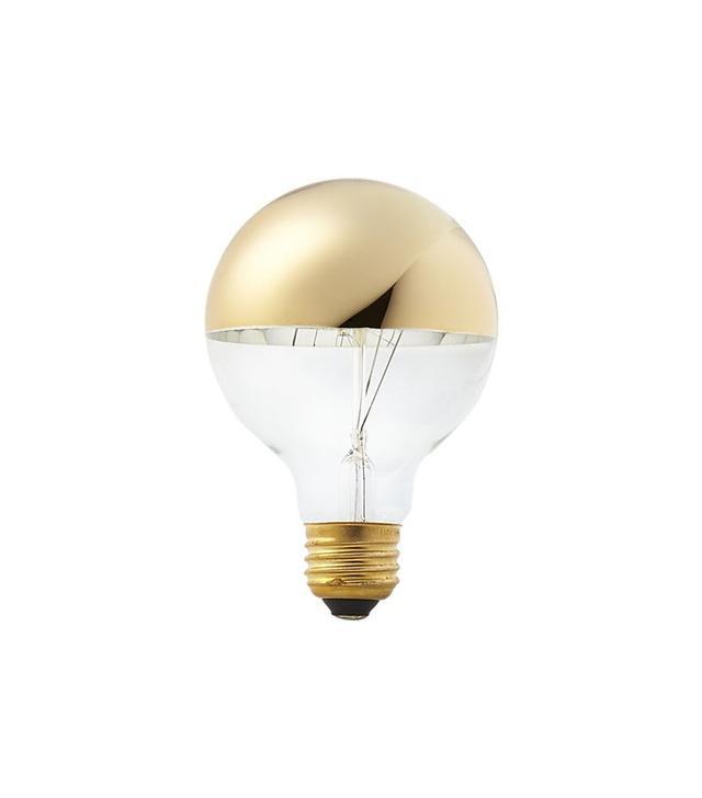 CB2 g25 Gold Tipped 40w Light Bulb