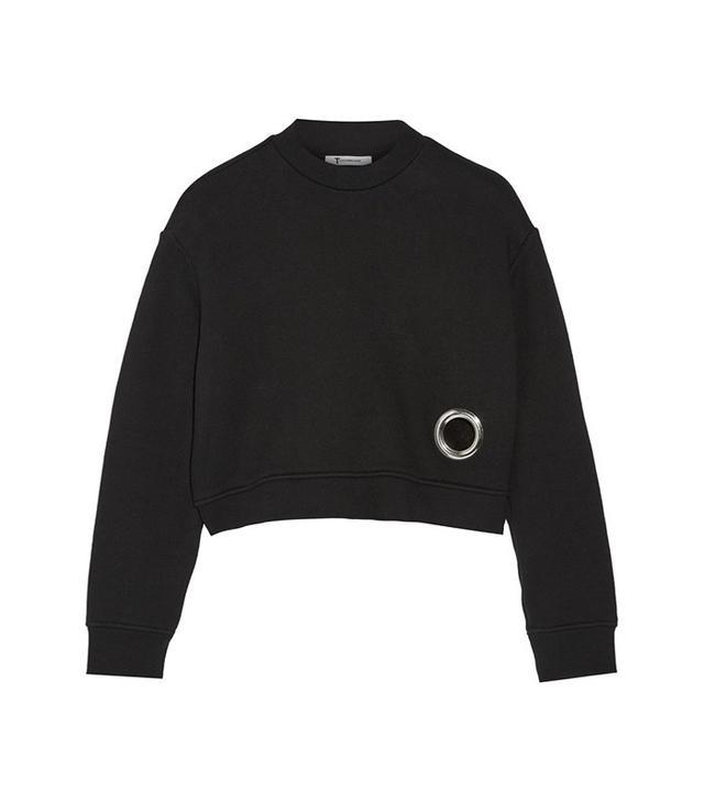 T by Alexander Wang Eyelet-Embellished Sweatshirt