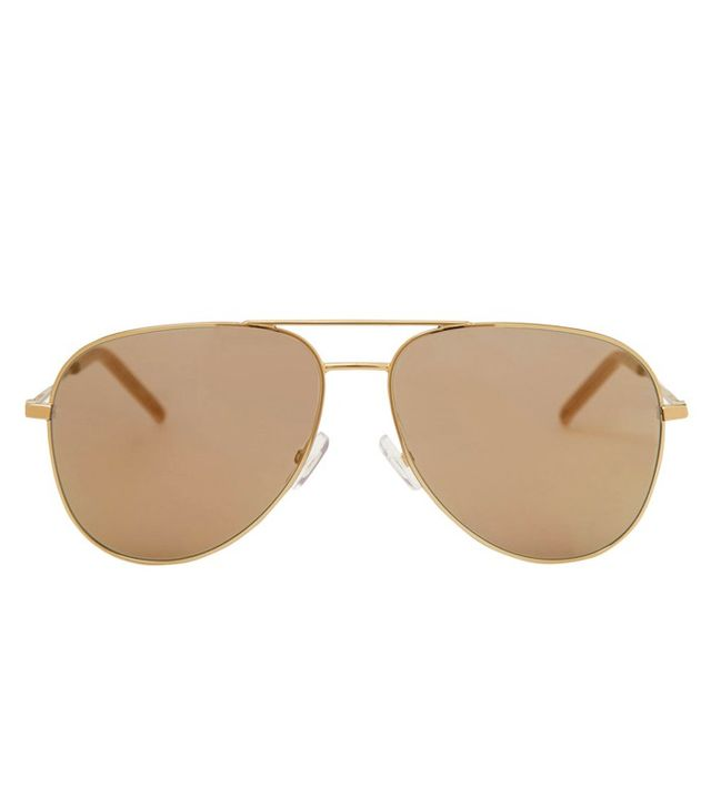 Saint Laurent Classic Aviator Sunglasses Gold-Toned