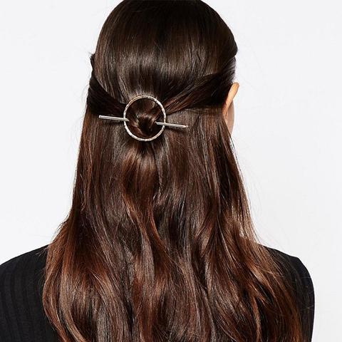 Circle & Bar Hair Clip
