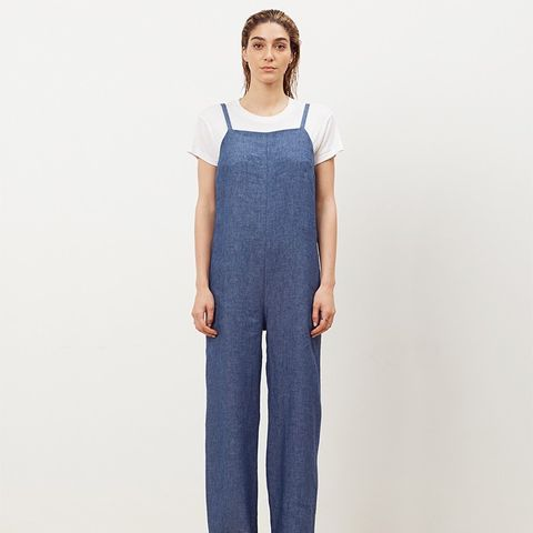 Denim Strap Jumpsuit