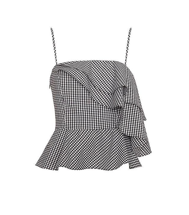 Exclusive for Intermix Thebes Gingham Ruffle Top