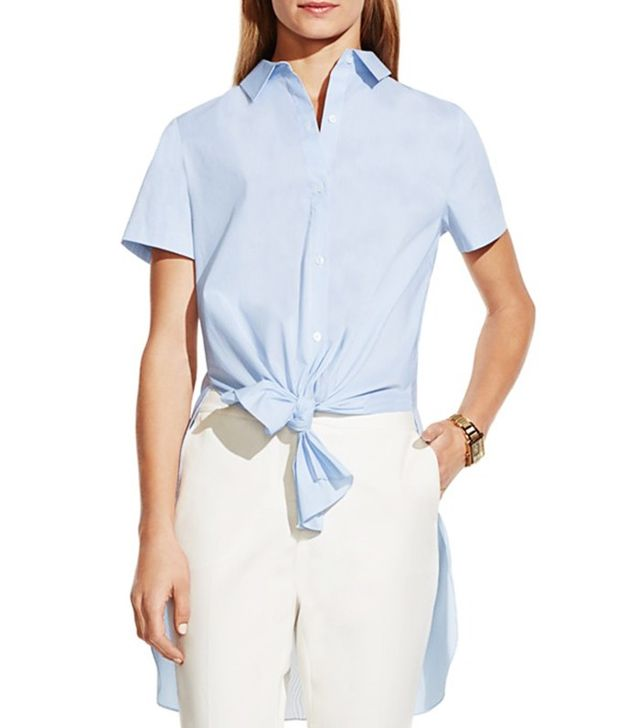 Vince Camuto Tie Front High/Low Shirt