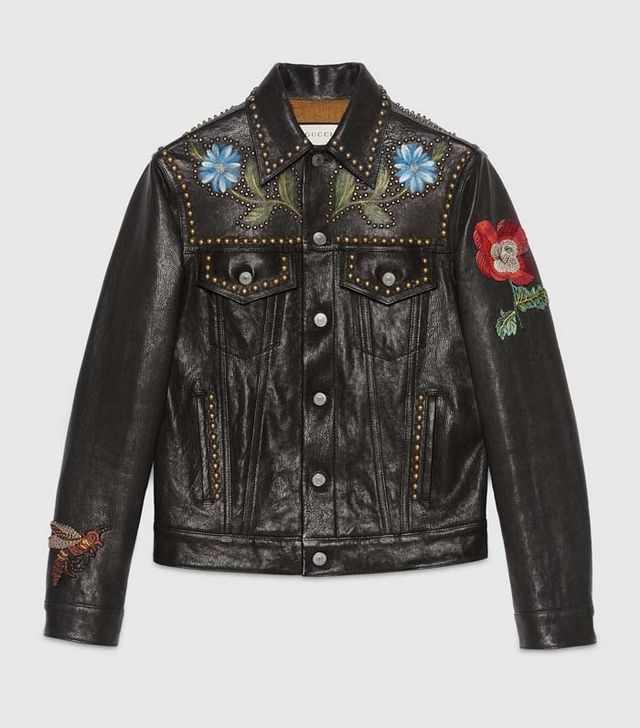 Gucci Leather Painted Jacket