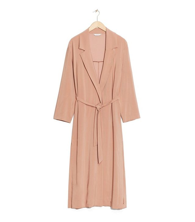 & Other Stories Draped Trench Coat