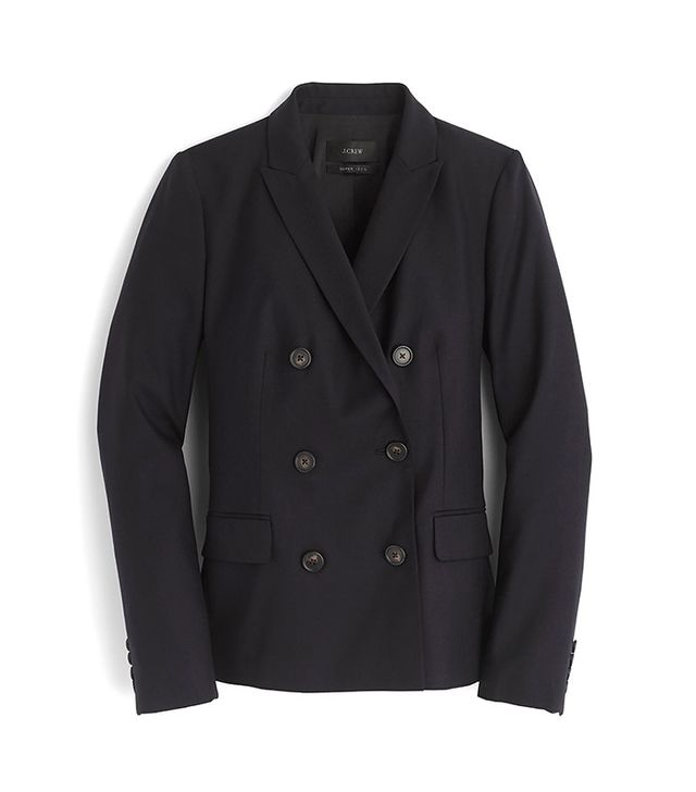 J.Crew Double-Breasted Blazer in Super 120S Wool