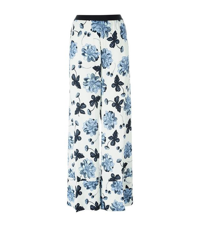 Twin-Set Floral Print Palazzo Trousers