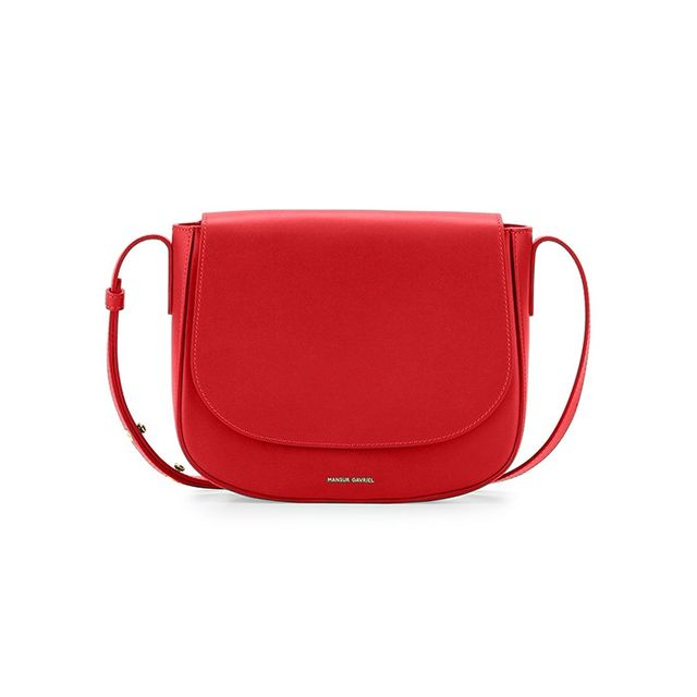 Mansur Gavriel Calf Leather Crossbody Bag