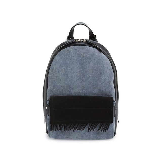 3.1 Phillip Lim Mini Bianca Denim Fringe Backpack