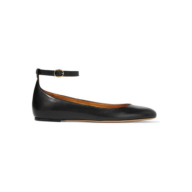 Isabel Marant Black Leather Lili Ballerina Flats