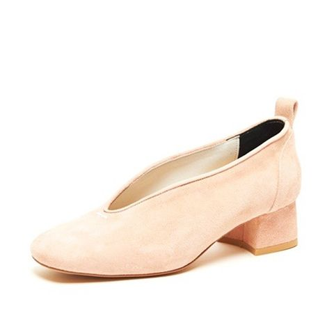 A08 Peach Mid Pumps