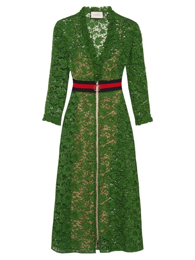 Gucci V-Neck Lace Dress