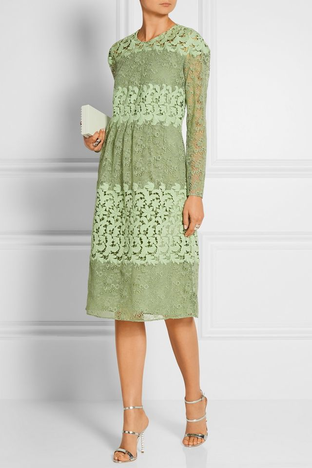 Burberry Prorsum Paneled Lace Dress