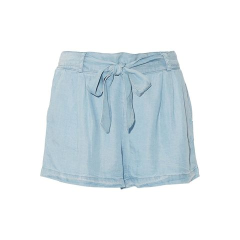 Belted Tencel Shorts