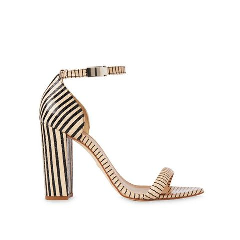 Hyde Stripe Block Heel Sandals