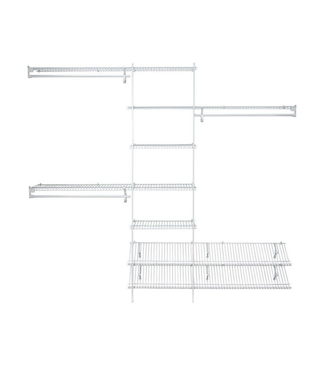 ClosetMaid SuperSlide 5 Ft. to 8 Ft. White Ventilated Wire Closet Organizer Kit