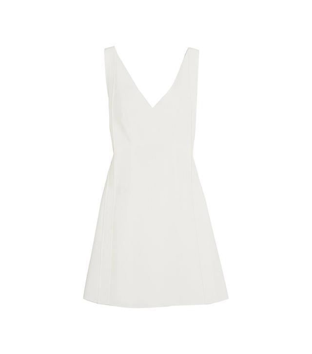 Chloe Tie-Back Crepe Mini Dress