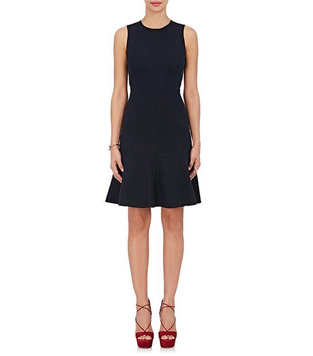 Derek Lam 10 Crosby Coea Stretch-Cotton Jersey Fit & Flare Dress