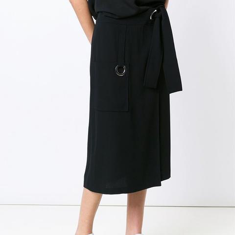 Belted Front Pocket Skirt