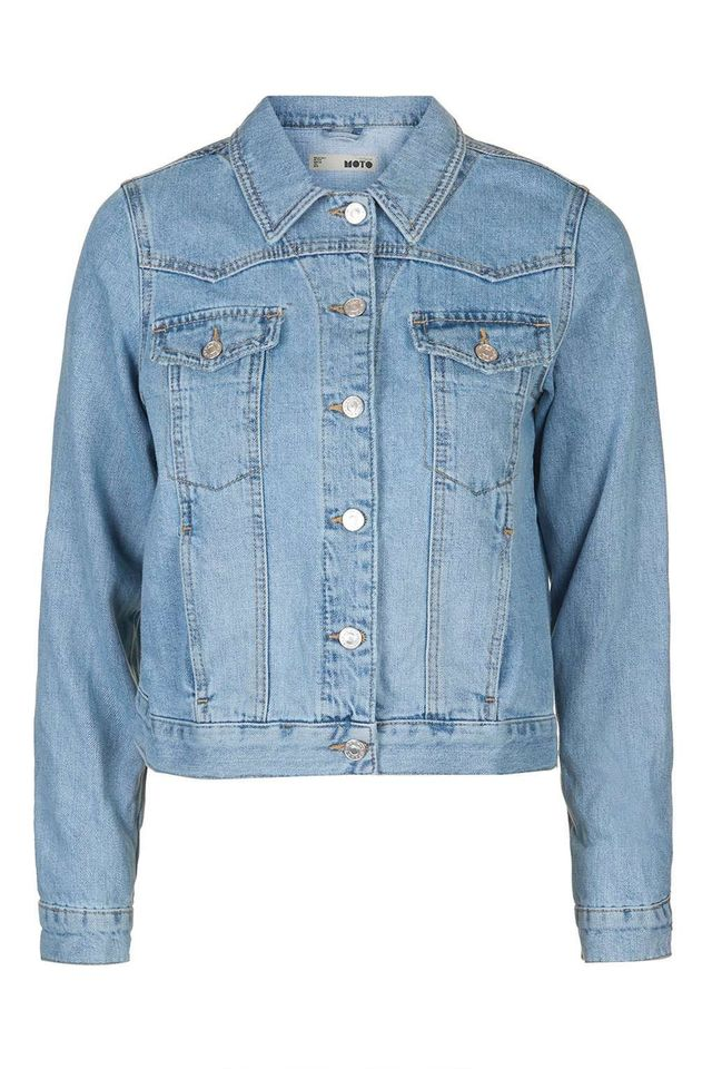 Topshop Moto Bleach Denim Western Jacket