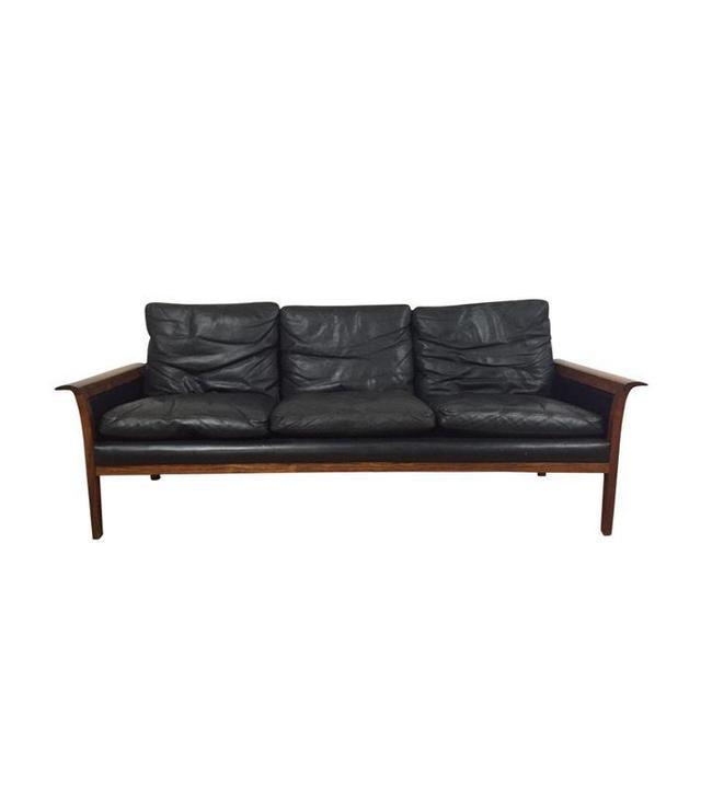 Hans Olsen for Mobler Vintage Leather Sofa