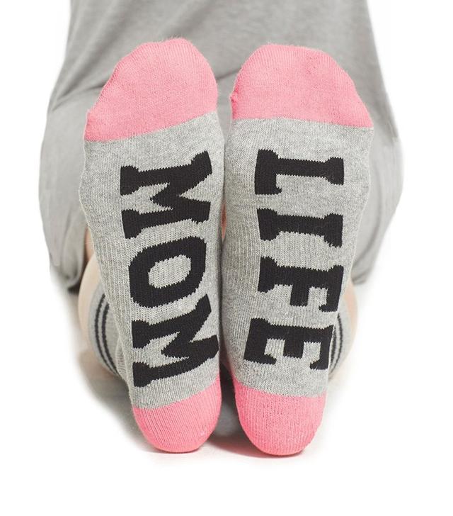 Sockart 'Mom Life' Crew Socks