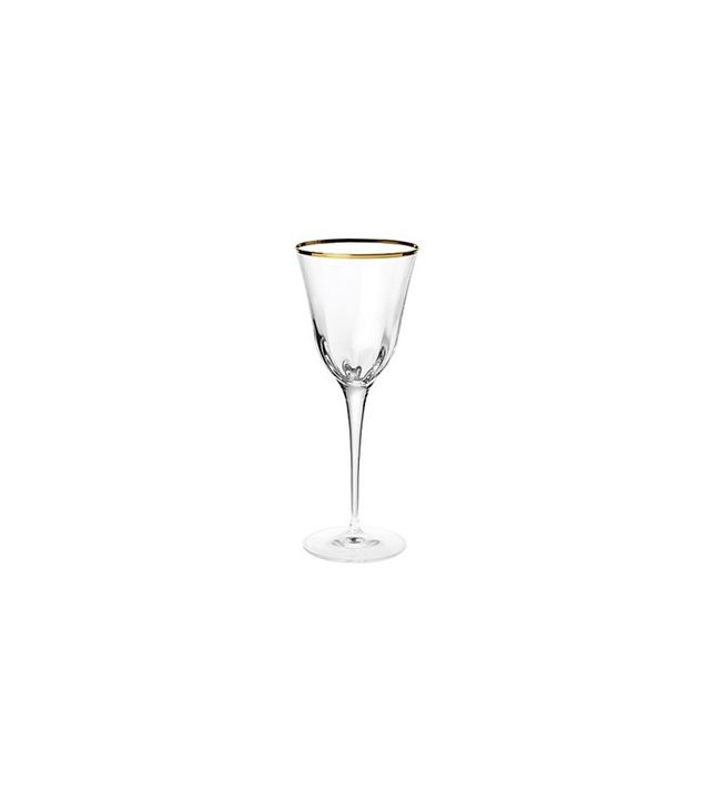Vietri  Optical Gold Wine Glass