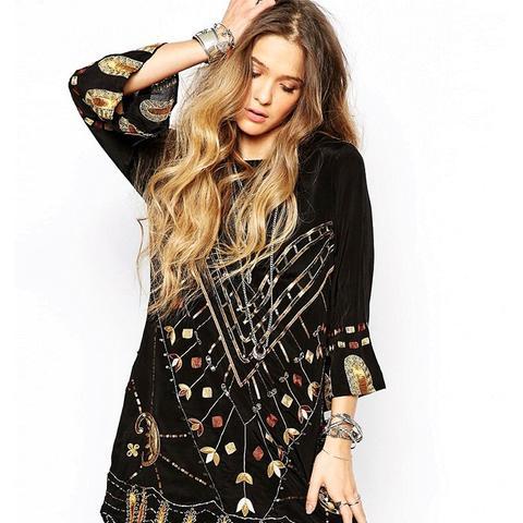 Black Magic Mini Dress