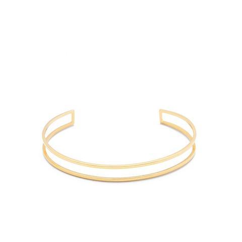 14K Gold Cage Cuff Bracelet