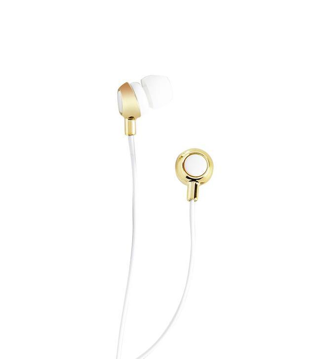 Modcloth Teach 'Em a Listen Earbuds in White