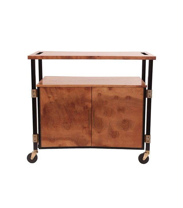 Romweber Figural Burl Wood Bar Cart