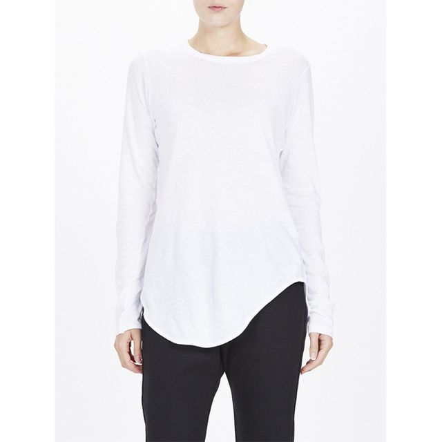 Bassike Scoop Hem Long Sleeve T-Shirt