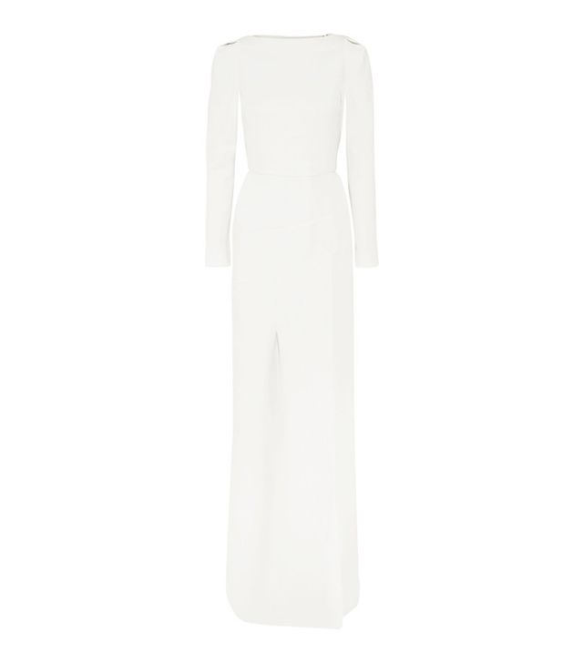 how to choose your wedding dress: Roland Mouret Ella Wool-Crepe Gown