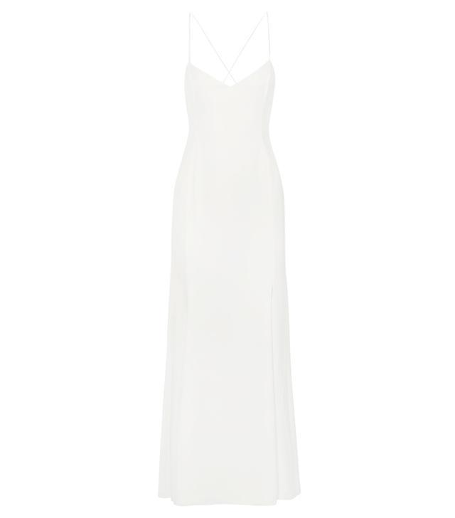 how to choose your wedding dress: Rime Arodaky Mara Crepe de Chine Gown