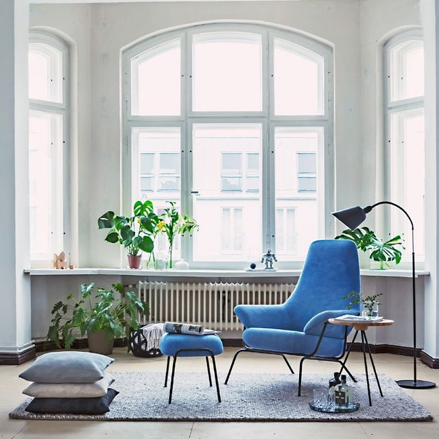 A Stylish Berlin Home With a Pop of Cerulean Blue